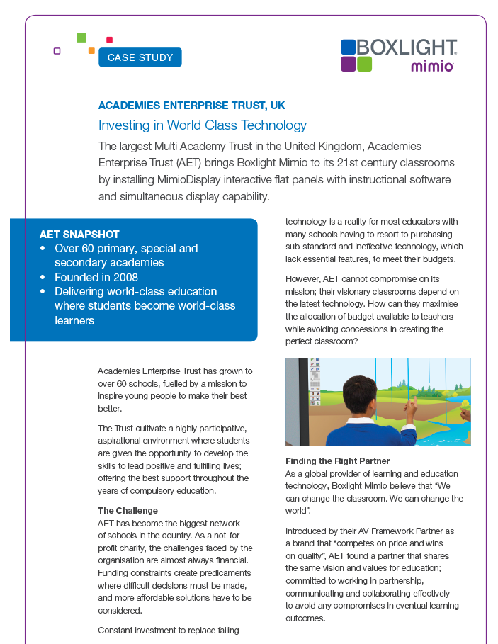 CaseStudy Academies Enterprise Trust